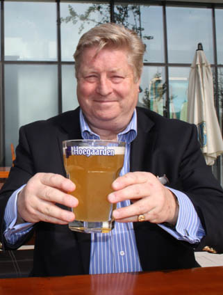 Alan Clements with Hoegaarden
