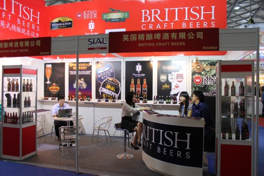 The British Craft Beers Exhibit at Sial Exhibition, Shanghai