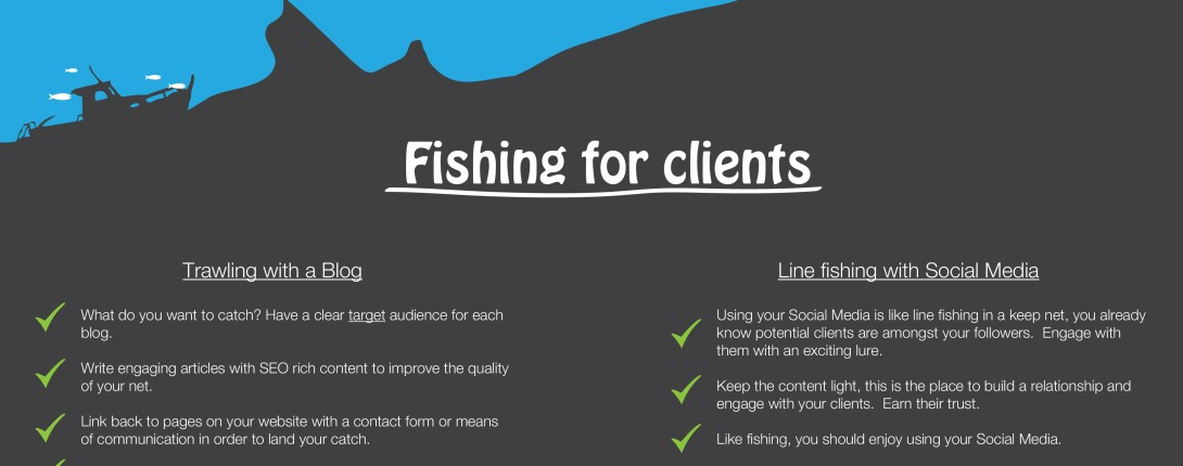 Fishing for Clients: Social Media & Blogging